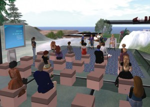 A librarians' meeting in Second Life. Flickr / Fabio Metitieri