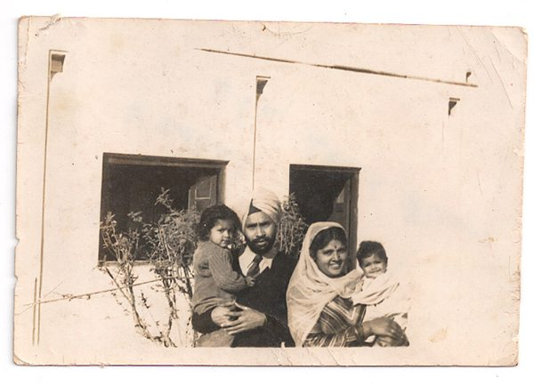 Sher Shah Mess, Delhi 1949 Daljindra, Sham Singh, his wife Ripudaman Kaur, and Neeta. Image: Brij Dogra and Neeta S Singh