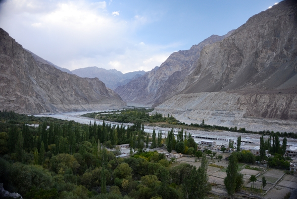 The Shayok River ambles past Turtuk and across the LoC.