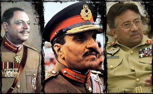 Dictatorial legacy: Ayub Khan, Muhammad Zia ul-Haq, Pervez Musharraf (from left to right)