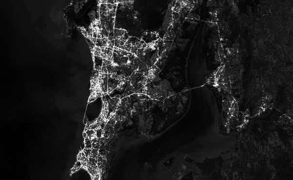 Satellite image of Mumbai Flickr / MapBox