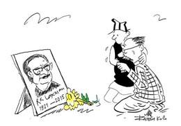 R K Laxman (1921-2015) Courtesy: Setopati / Rajesh KC
