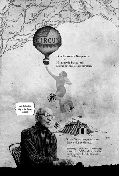 "Illustration from ""The Last Circus"" by Priya Sen and Deewana ; Courtesy Vishwajyoti Ghosh"