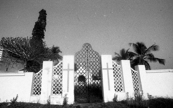 Entrance to the cemetery adjoining Sao Bras Church.