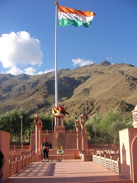 A memorial to Kargil's fallen. Photo: Wikicommons / Ashoosaini2002