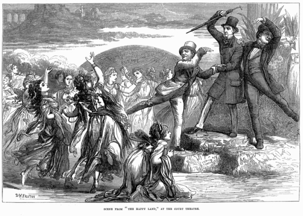 "Scene from ""The Happy Land"" by W. S. Gilbert and Gilbert á Beckett Source: Wikimedia Commons/Illustrated London News"