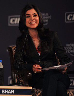 Managing Editor of CNBC-TV18 Shereen Bhan at the India Economic Summit 2009. Flickr / World Economic Forum