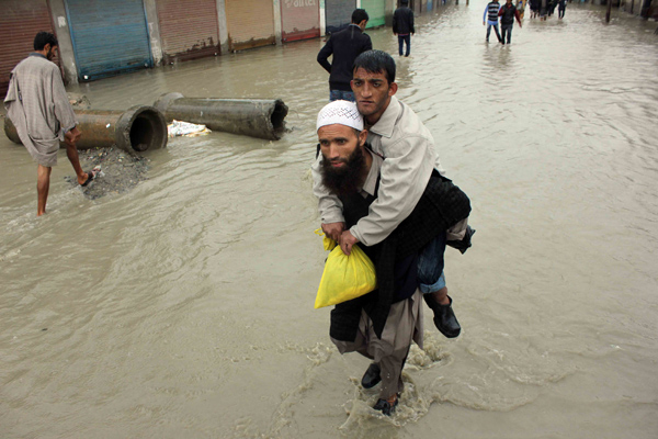 A scene from the September floods that wreaked havoc in Kashmir. Photo: Ieshan Wani