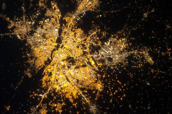 A view of Delhi from the International Space Station. Flickr / nasamarshall