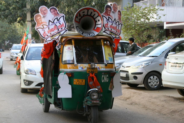 A misguided electoral strategy yielded the BJP only three seats in the Delhi Assembly. Flickr / Ramesh Lalwani