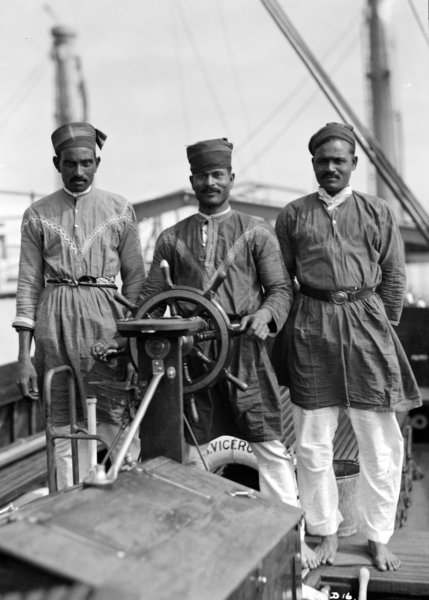 Three Lascars on the Viceroy of India Source: Wikimedia Commons