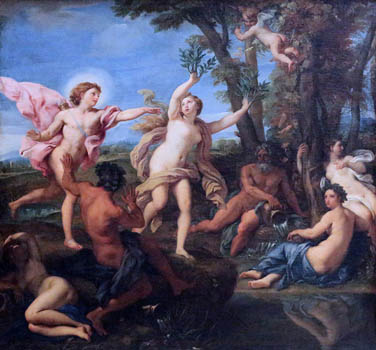 'Apollo pursuing Daphne' by Carlo Maratta (1625-1713) at Royal Museums of Fine Arts of Belgium, Brussels.