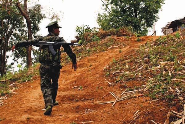 A frontline Kachin Soldier. Photo: David Brenner