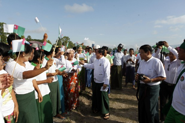 USDP rally in Zayarthiri Township, Naypyidaw; September 2015 PHOTO : DVB