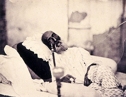 Bahadur Shah Zafar in 1858, just after his trial and before his departure for exile in Burma Photo : Wikimedia Commons