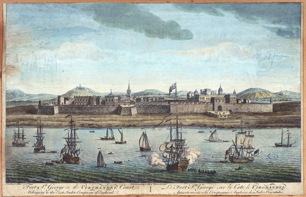 An 18th century sketch of Fort St. George where Katharine spent her last days Photo : Wikimedia Commons / Jan Van Ryne