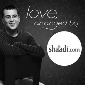 Author Chetan Bhagat, in an advertisement  for Shaadi.com