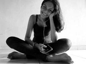 A self-portrait of Dhara Gunawardene, digital native, taken when aged 15