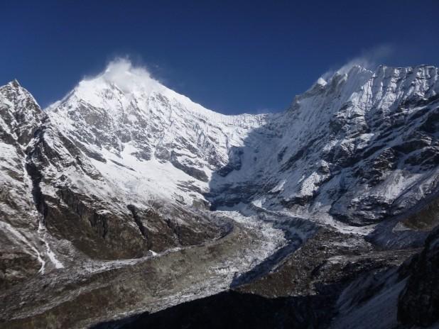 Langtang Lirung (7,227m) from Kyanjin Ri, above Kyanjin Gomba (3,830m). Photo: Rabi Thapa