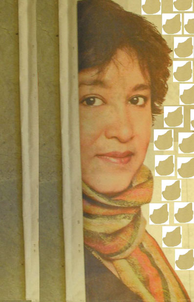 Taslima Nasrin, as depicted by Ashok Shukla