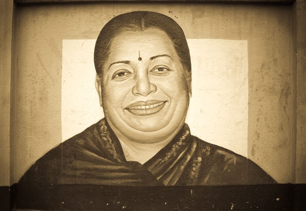 Jayalalitha in her avatar as politician. Flickr / Ramaswamy M