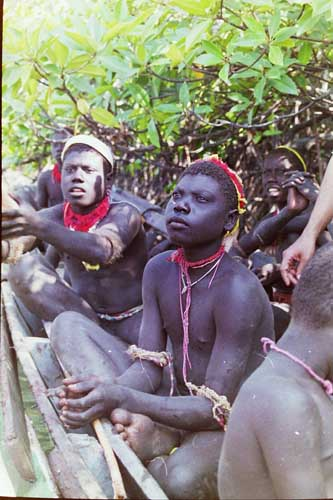 Jarawa youth on a visit to the outside world, 1998. Photo courtesy: Madhusree Mukerjee