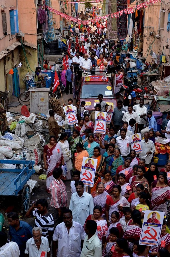 CPIM campaign rally in southern India Photo : Wikimedia Commons / Jaffar Theekkathir