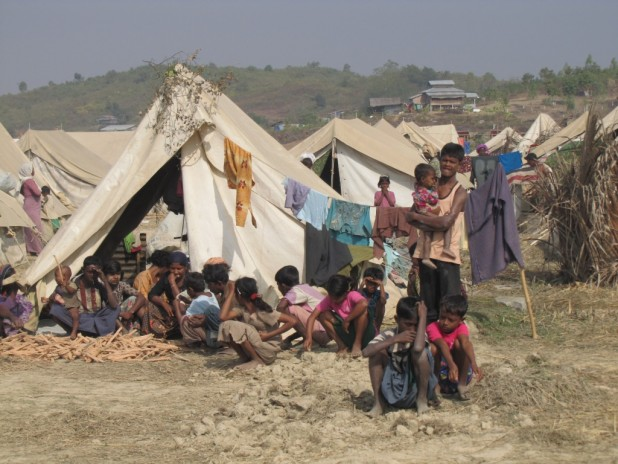 Rohingya community in Myebon, Rakhine state after they were brutally evicted in January 2013. (Photo: Mathias Eick, EU/ECHO/Flickr)