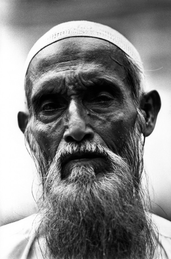 Rohingya man at Jama mosque in Sittwe, Arakan State, Burma.