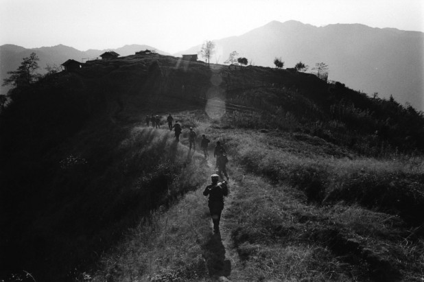 Kachin frontline at Bum Sen post, 7500 feet above sea-level. Kachin State, January 2012.