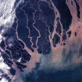 The Ganges River Delta Photo: Wikimedia Commons