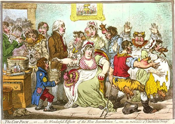 James Gillray, The Cow Pock (1802) Library of Congress, Prints & Photographs Division