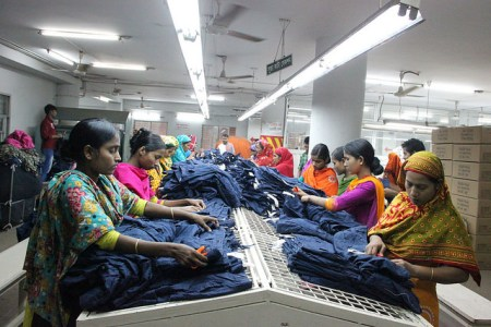 Apparel Factory in Dhaka Flickr/ NYU Stern BHR