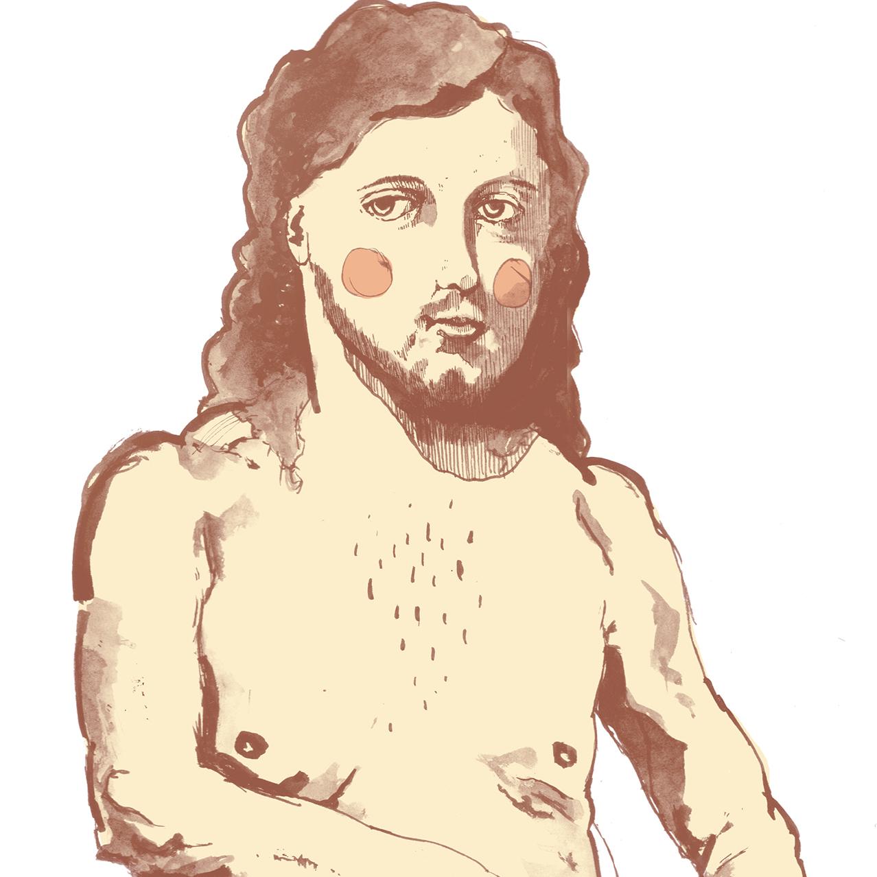 Jesus in the throat