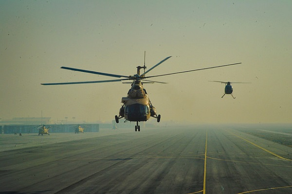 Mi-17 and MD-530 helicopters used by the Afghar Air Force. Photo credit: RA.AZ / Flickr