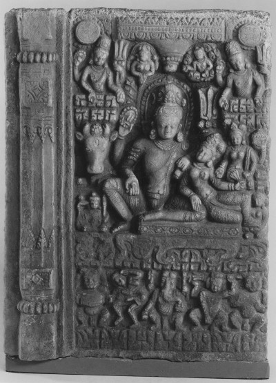 The 12th-century stele of Uma Mahesvara, stolen from the Tangalhiti water fountain in Patan in the early 1980s. It was returned to Nepal on 4 April 2018 by New York's Metropolitan Museum of Art. Photo: Ministry of Foreign Affairs, Nepal.