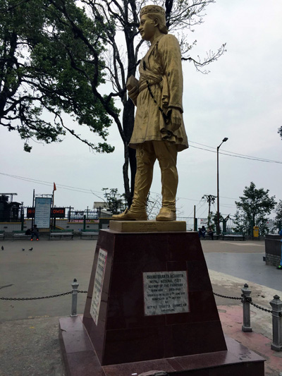 The statue of Bhanubhakta Acharya – considered the first poet of the Nepali language – in the public square overlooking Darjeeling. Photo: Manjushree Thapa