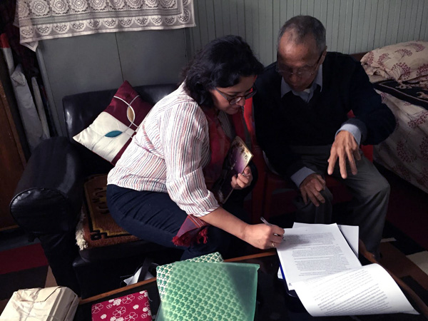 The writer with Indra Bahadur Rai. Photo: Rita Thapa