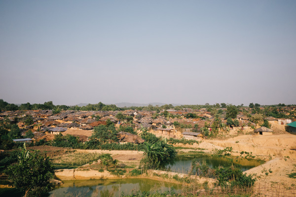 The congested collection of mud-walled, plastic-roofed homes that made up Kutupalong's makeshift camp in 2015
