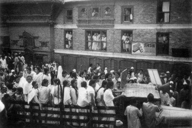 Women take out a rally to demand their right to vote during the pro-democracy revolution of 1951. Photo: Sahana Pradhan Collection/Nepal Picture Library