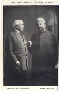 Lord Headley with Khwaja Kamal-ud-Din, 1913 Photo: Ahmadiyya Anjuman Isha'at Islam Lahore (U.K.)